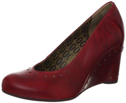e45666ee32f38 Fly London Women s Gett Red Wedges Heels P142588001 6 UK