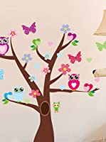 Ambiance Sticker Vinilo Decorativo Tree And Butterflies On A Tree