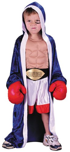 Toddler Champion Boxer Costume Size 3-4T