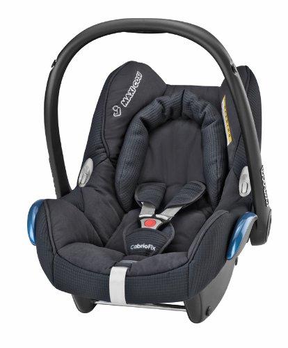 Maxi-Cosi 61705941 Cabriofix Kinderautositz Gruppe 0+ (bis 13 kg), ab der Geburt bis ca. 12 Monate, total black