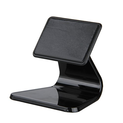 Storm Store Mini Portable Multi-angled Nanotechnology Micro-suction Desk Stand Holder Bracket Dock for iPhone iPad Samsung &Most Smartphone Cell Phone Tablet (Black)