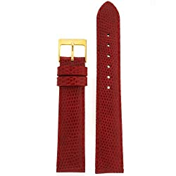 Watchband Genuine Lizard Red 16mm