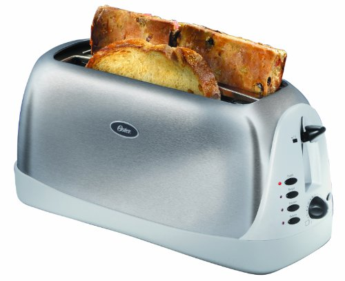 Oster 6330 Inspire 4-Slice Toaster, Brushed Stainless Steel