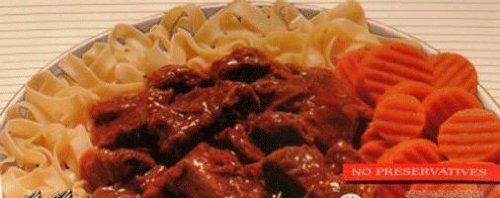 Grandma'S Kitchen Healthy Cuisine Beef Goulash In Gravy Dinner Old Fashion European Style 16 Oz 6 Pack