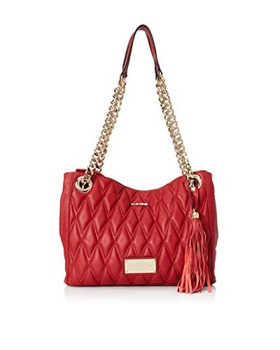 Valentino Bags by Mario Valentino Women's Luisa 2 D Quilted Shoulder Bag, Rubino