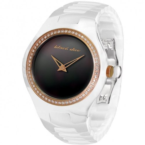 Black Dice 'Showgirl' White Ceramic Ladies Watch - BD-051-04
