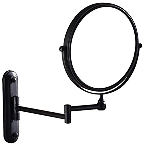 GuRun Two-Sided Swivel Wall Mounted Makeup Mirror With 10X Magnification,Oil-Rubbed Bronze,M1207O(8in,10x) (8'' *10X Magnification)