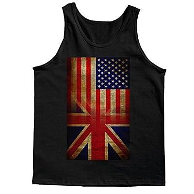 Tank Top: Vintage USA British Distress Flag