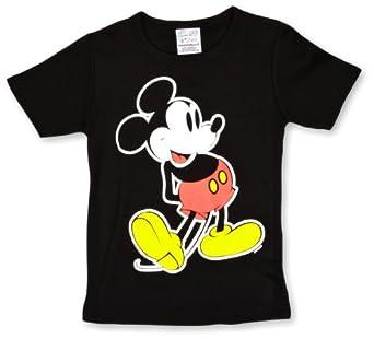 Logoshirt Disney Mickey Mouse Classic Logo Boy's T-Shirt Black 2-3 Years