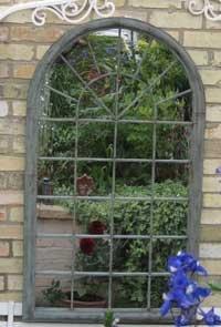 miroir mural d coratif pour jardin et ext rieur forme d 39 arc gr ge entr e. Black Bedroom Furniture Sets. Home Design Ideas