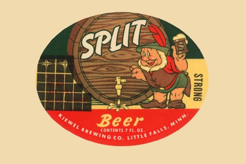Split Beer - Little Falls, Minnesota, 12X18 Paper Giclée front-253641