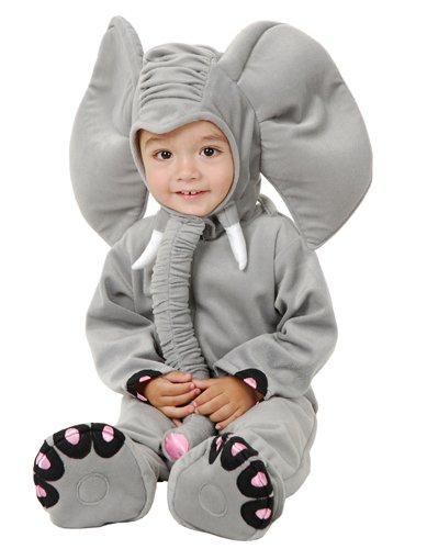 Charades Little Elephant Costume -- gray size: 6-18 months (Infant (6-18 months))