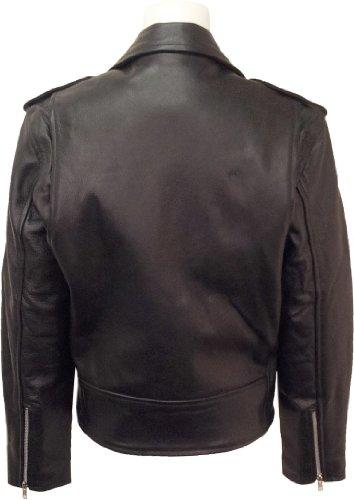 Womens classic Brando Biker style Real Leather Jacket #B3 (16)