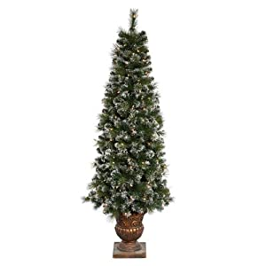 Vickerman 22464 - 6' Sweden Pine Potted 200 Clear Lights Christmas Tree (B116461)