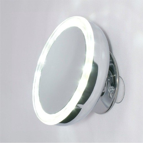 Mirror Place Led Lighted Suction Cup 10X Magnifying Mirror, Battery Operated, With Travel Pouch front-58922