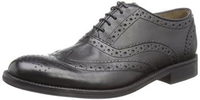 Brand X Men's Oxford Brogue Black Shoe AM02011 7 UK