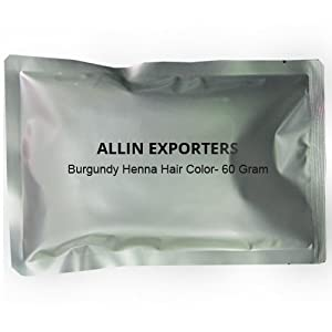 Burgundy Henna Hair Color - 100% Organic and Chemical Free Henna for Hair Color Hair Care