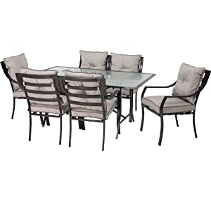 Hanover ODLA-7PC-CU-GL Lavallette 7-Piece Outdoor Dining Set