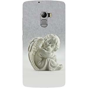 Casotec White Angel Design Hard Back Case Cover for Lenovo K4 Note