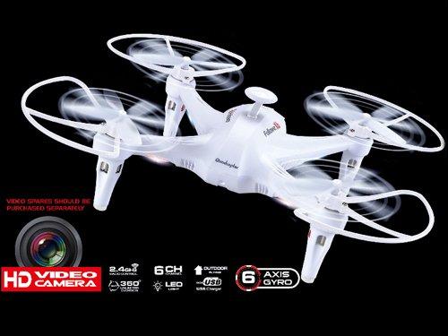 Drone QuadCopter X6 Con Cámara HD, 6 Ejes y Función de Retorno Blanco