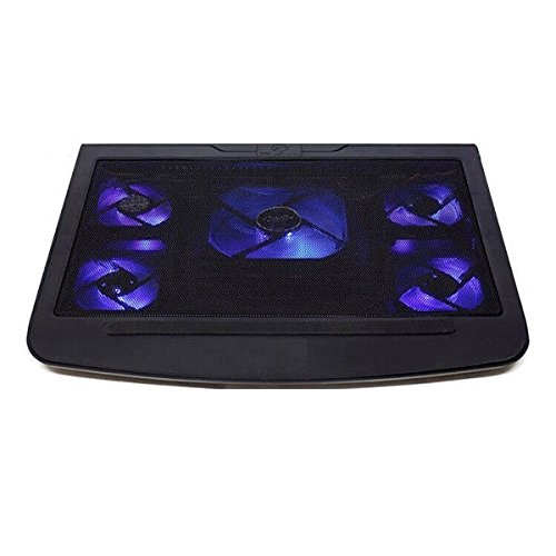 "Review Woodsam (TM) USB 10-17"" Laptop Notebook Cooler Cooling Stand Pad 5 Blue LED Fans w/ USB Port"