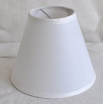 satin chandelier mini lamp shade 6 inch hardback clip on off white. Black Bedroom Furniture Sets. Home Design Ideas