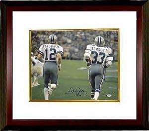 Tony Dorsett Autographed Hand Signed Dallas Cowboys 16X20 Photo Custom Framed HOF 94... by Hall of Fame Memorabilia
