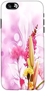 Snoogg Flowers Designer Protective Back Case Cover For Apple Iphone 6
