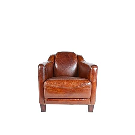 FAUTEUIL CLUB LONDON CUIR MARRON