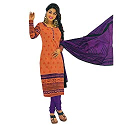 High fashion designs in unstitched printed cotton Chudidhar