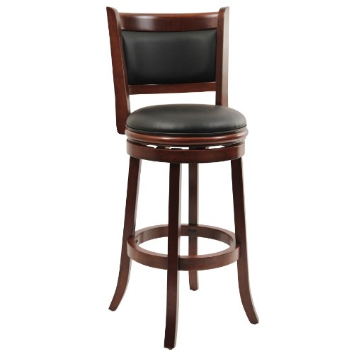 Boraam 49829 Augusta Swivel Stool, 29-Inch, Cherry (Amazon Bar Stools compare prices)
