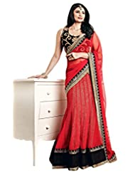 Indian Luxurious Red colored Embroidered Lehenga Choli By Triveni