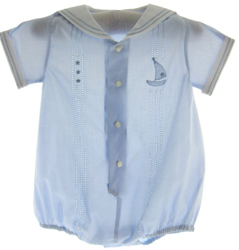 Baby Boys Blue Dressy Sailor Bubble Outfit Feltman Brothers (9M) front-318372