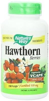 Nature's Way Hawthorn Berries , 510 mg. (720 Vegetarian Capsules)