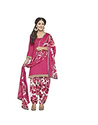 Subhash Sarees Daily Wear Red Color Cotton Dress Material