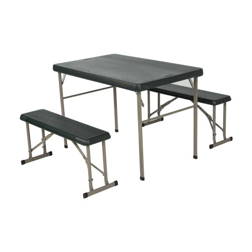 Lifetime 42-Inch Hunter Green Sport Table and Benches