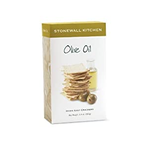 Stonewall Kitchen Olive Oil Crackers, 4.4 Ounce Box