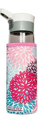 Koverz - #1 Neoprene 24-30 oz Water Bottle Insulator Cooler Coolie - Petals (Kleen Kanteen Insulates compare prices)