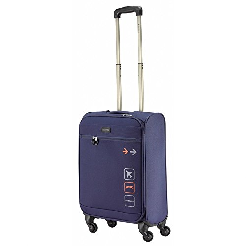 Ghepard valigia trolley medio, blue-navy, Graphic, cm 65 a 4 route
