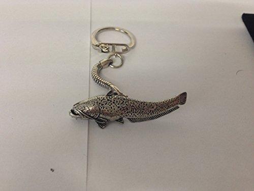 F46Wells Catfish su un serpente in fine peltro inglese portachiavi con prideindetails Confezione Regalo realizzato a mano in Sheffield