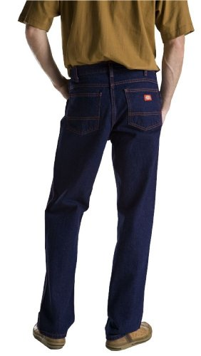 Dickies Men's Regular Fit 5-Pocket Rigid Jean, Indigo Blue, 38x32