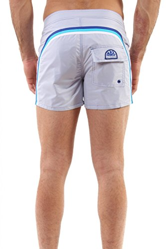 """Sundek -BS/RB- LOW RISE 14"""" costume da uomo pantaloncino boxer M502BDP6000 (32, GRIGIO)"""