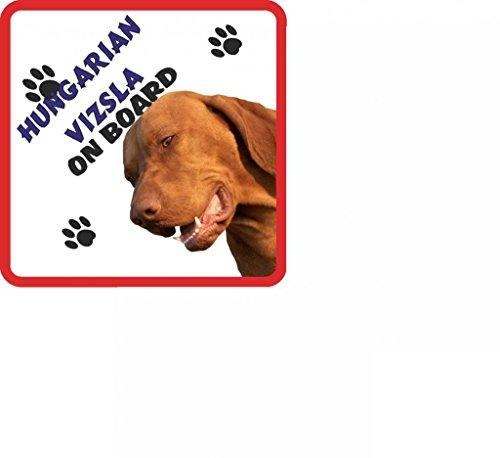 Da appendere, motivo: cane bracco ungherese per auto con ventosa, 133, in gomma