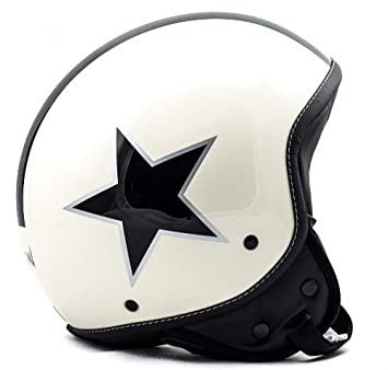 SOXON SP-301 Star beige casque JET moto Cruiser Pilot - Taille: XS S M L XL