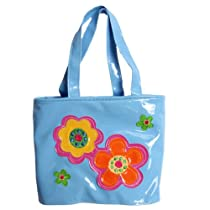 Expressions Toddler Little Girls 1 Piece Blue Flower Handbag Purse