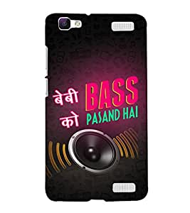 Baby ko Bass Pasand Hai Cute Fashion 3D Hard Polycarbonate Designer Back Case Cover for vivo V1 Max