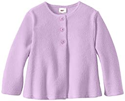 Zutano Baby Girls\' Cozie Fleece Swing Jacket, Orchid, 12 Months