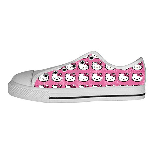 YKMS-Custom-Hello-Kitty-Ladys-Womens-Canvas-Shoes-Low-top-Sneakers