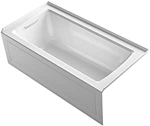 KOHLER K-1946-LA-0 Alcove Bath with Integral Apron,