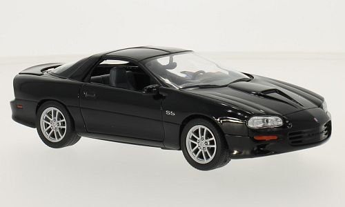 Chevrolet Camaro SS, black, 2002, Model Car, Ready-made, Welly 1:24 (1 24 Diecast Cars Camaro compare prices)